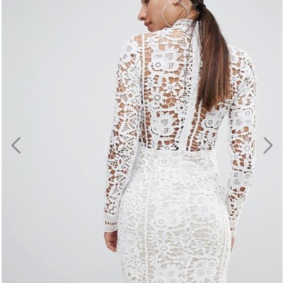 0bcd0a7d371e ASOS Dresses   White Crochet Lace Long Sleeve Mini Dress   Poshmark